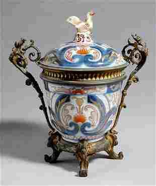 Continental Bronze-Mounted Imari Porcelain Covere