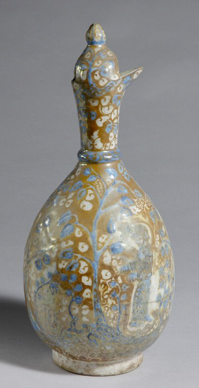 1418: Persian Glazed Earthenware Ewer