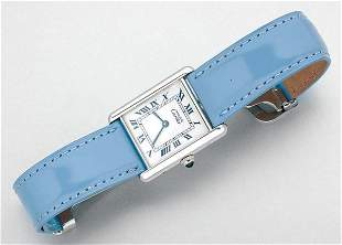 Silver Tank Wristwatch