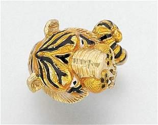 Enamel Tiger Ring