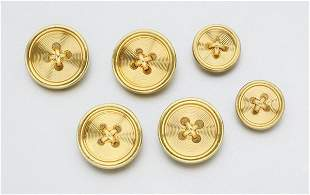 Set of Gold Buttons