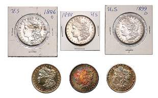 United States Silver Dollars, Nine Coins