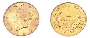 1849 $1 Liberty Head, No L