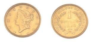 1851 $1 Liberty Head