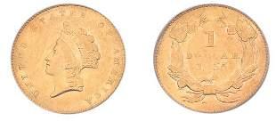 1855 $1 Indian Head, Type 2.