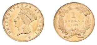 1862 $1 Indian Head, Type 3.