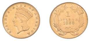 1888 $1 Indian Head, Type 3