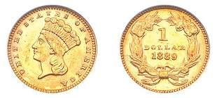 1889 $1 Indian Head, Type 3