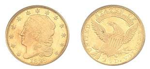 1829 $2 1/2 Capped Head To Left
