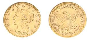 1888 $2 1/2 Liberty Head