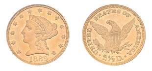 1889 $2 1/2 Liberty Head