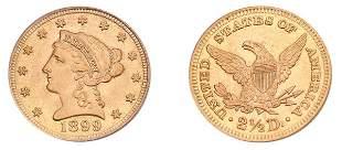 1899 $2 1/2 Liberty Head