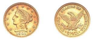 1901 $2 1/2 Liberty Head