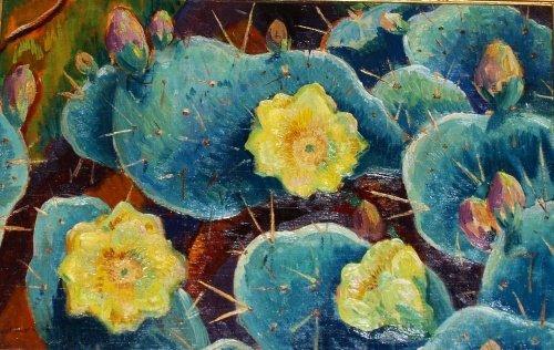21: Eliot Candee Clark American, 1883-1980 Yellow Cactu