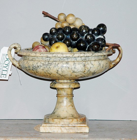 327: Marble Urn with Fruit
