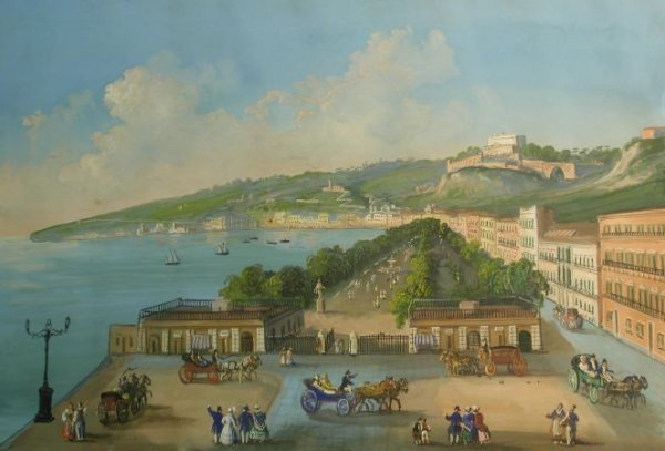 2002: Neapolitan School 19th Century A View of Naples a