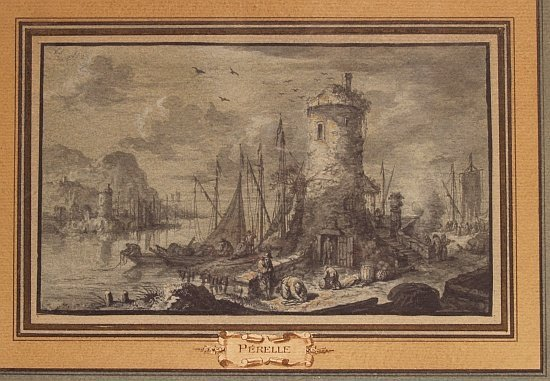 2011: Attributed to Gabriel Perelle Port Scenes with Fi
