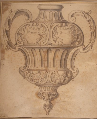 2016: Attributed to Giuseppe Valadier Design for a Vase