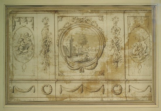 2019: French School 18th Century Study for a Wall Decor