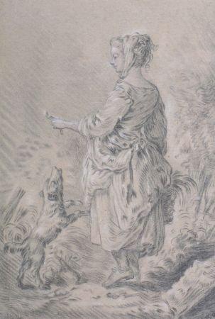 2024: Circle of Jean-Baptiste Huet Young Girl Playing w