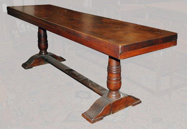 2125: Continental Baroque Walnut Refectory Table