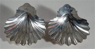 2304: Pair of George III Silver Shell-Form Dishes