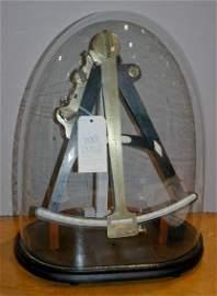 2320: French Brass and Bone Inlaid Ebonized Sextant