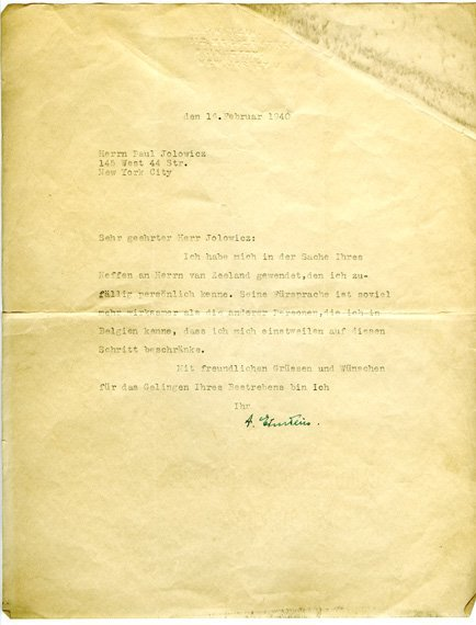3005: EINSTEIN, ALBERT Typed letter signed