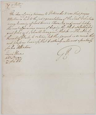 George III Letter to Admiral Howe