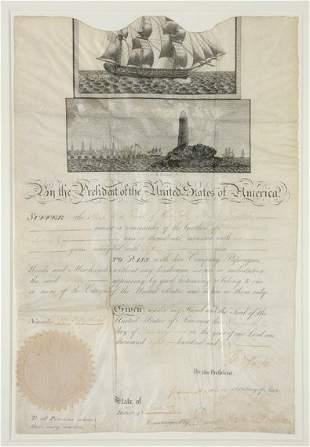 "JEFFERSON, THOMAS Document signed (""Th Jefferson"""