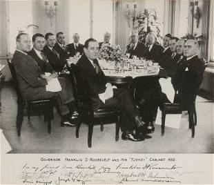 ROOSEVELT, FRANKLIN DELANO Photograph Inscribed a