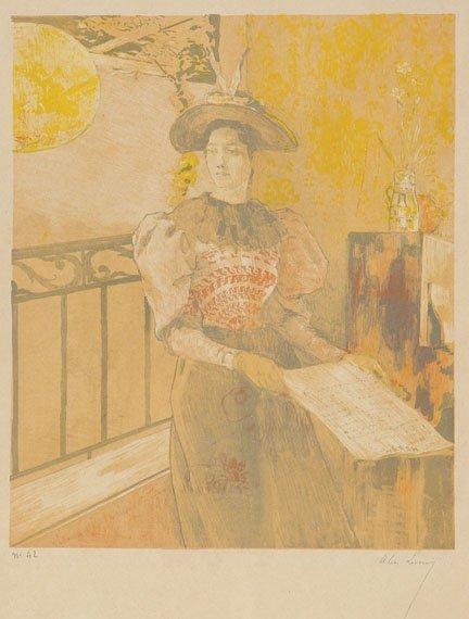 3176: Alexandre Lunois L'ILLUMINATION Color lithograph