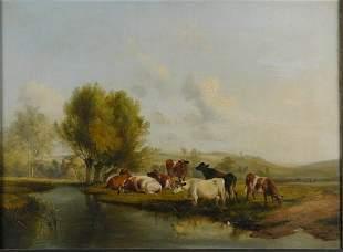 Thomas Sidney Cooper British, 1803-1902 Cattle Wa