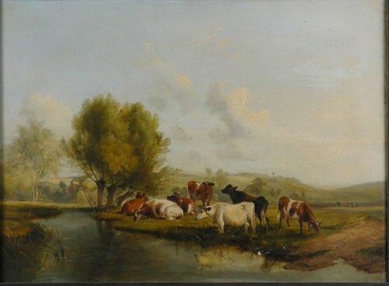 5004: Thomas Sidney Cooper British, 1803-1902 Cattle Wa
