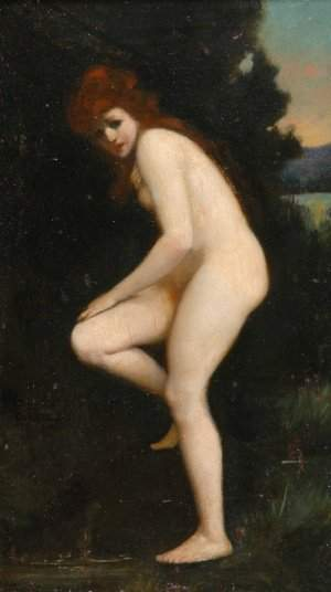 Jean Jacques Henner French, 1829-1905 The Bather,