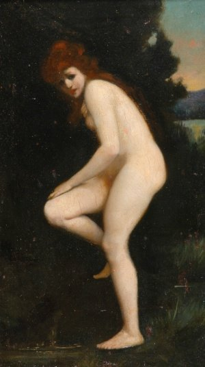 5012: Jean Jacques Henner French, 1829-1905 The Bather,