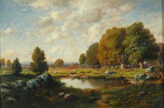 5013: C.E. Picault French, 19th/20th century Autumn Lan