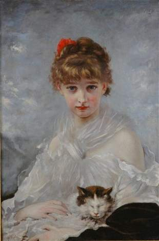 Charles Chaplin French, 1825-1891 Her Favorite Pe