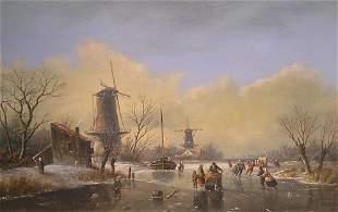Attributed to Jan Jacob Spohler Winter Landscape