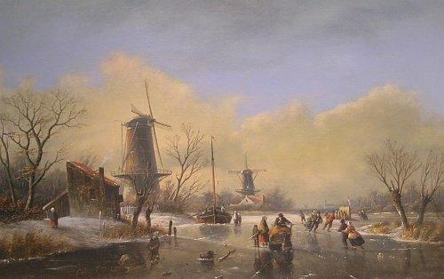 5017: Attributed to Jan Jacob Spohler Winter Landscape