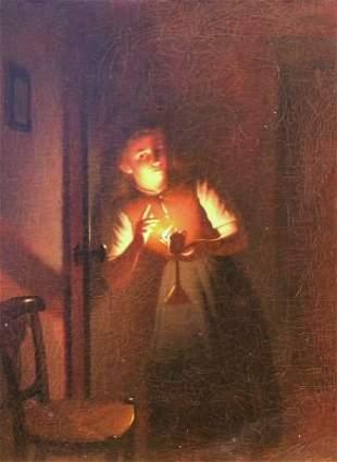 Johannes Rosierse Dutch, 1818-1901 Overheard Whi