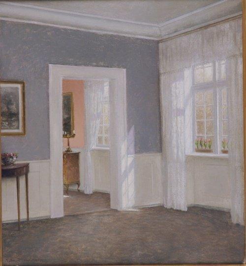 5024: William Henriksen Danish, 1880-1964 Sunlit Interi