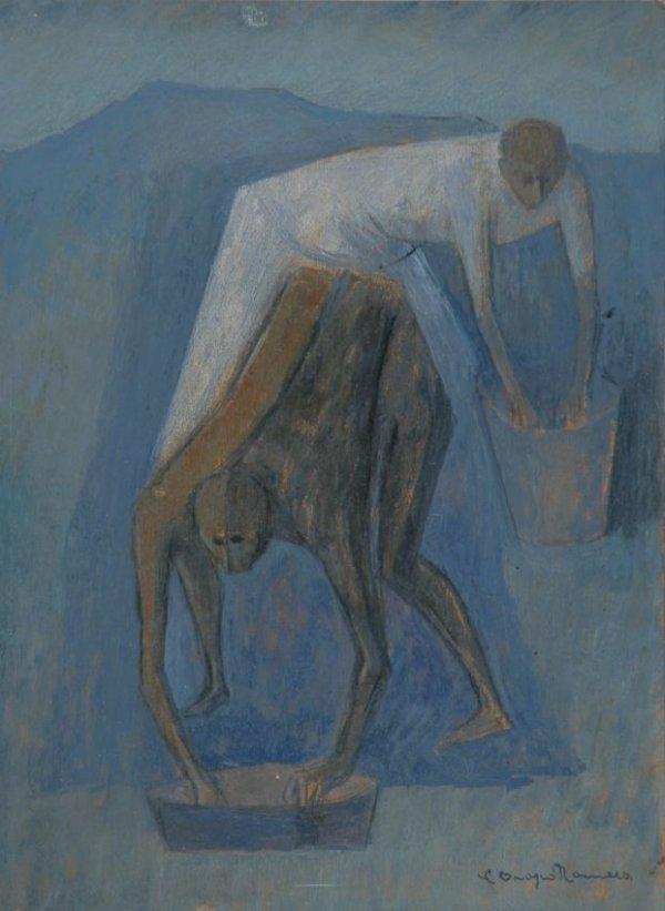 5115: Carlos Orozco Romero Mexican, 1898-1984 Two Figur