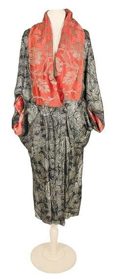1010: Modernist Lame Brocade Opera Coat