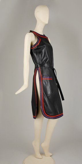 1090: Cardin Leather Tabard