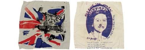 1151: Two Sex Pistols Handkerchiefs