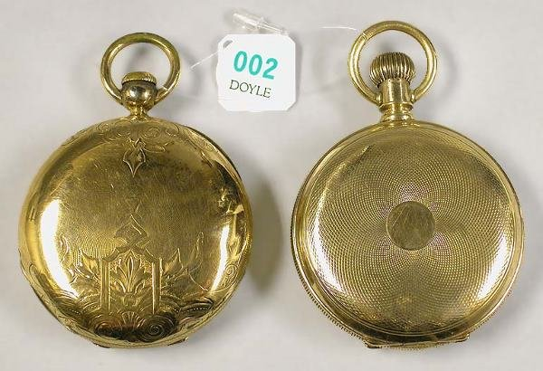 2: Two Hunting Case Pocket Watch Cases