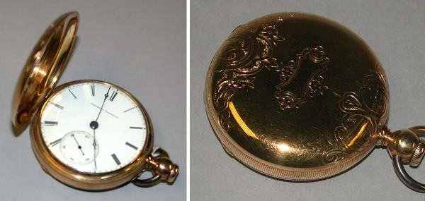 8: Gold Hunting Case Watch