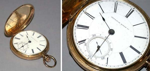 15: Gold Hunting Case Watch