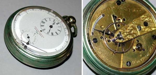20: Rare Nickel Open Face Chronometer Watch